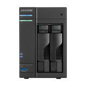 ASUSTOR AS6302T 2-Bay NAS/Media player/Intel Celeron J3355 2.0GHz up to 2.5GHz (Dual-Core ), 2GB SO-DIMM DDR3L, noHDD(HDD,SSD),/2x1GbE(LAN)/3xUSB3.0,HDMI/4ip camera license ; 90IX0131-BW3S10